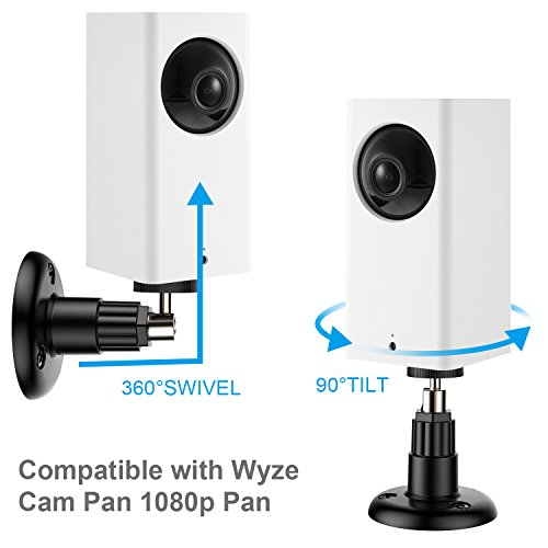 Shappy 3 Pack Security Wall Mount Indoor and Outdoor Mount Bracket Adjustable for Wyze Cam Pan 1080p Pan, Arlo Pro 2, Arlo Pro, Arlo, Arlo Cam and Other Compatible Models (Black)