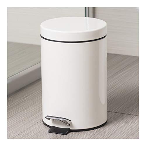 Contenedor de residuos Bote de basura, Hogar Mini Baño de pies bote de basura 3L / 0,8 galones (casi blanco) for el cuarto de baño, cocina, oficina en casa, dormitorio, sitio de los niños Pequeño bote