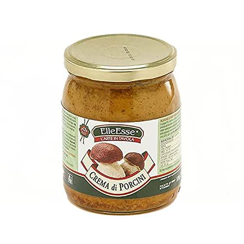 Crema di Pregiati Funghi Porcini 520 g - Gustosa Salsa a base di Fungo Porcino di Bosco Pregiato - Condimento Cucina Olio Extra Vergine di Oliva - Perfetto per Primi, Crostini, Uova e Carni