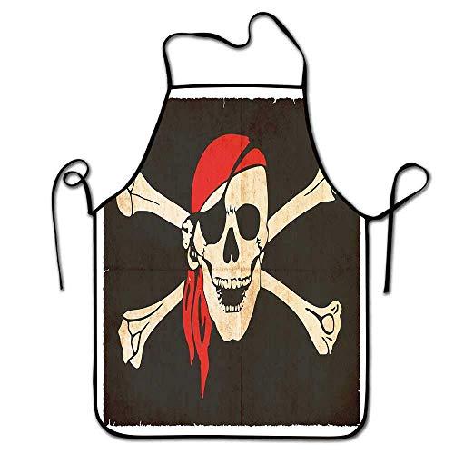 Not Applicable Piratenschürze Abendessen Flagge von Feuerland Fuego Argentinien in Grunge Antike Historische Barkeeper Schürze Männer Armee Grün Beige Vermilion
