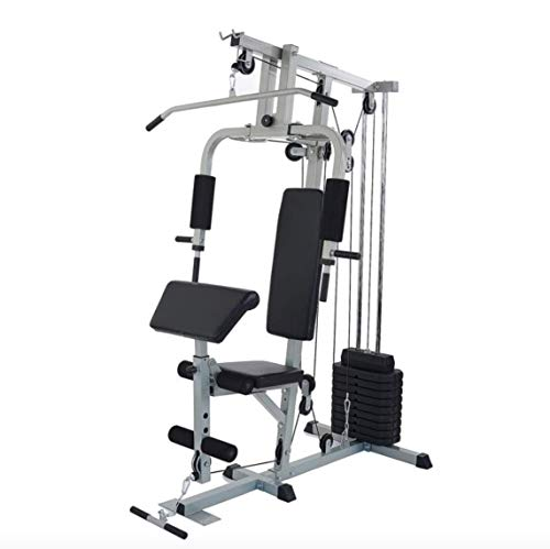 FITNESS HUB Home Gym Station for Total Body Training with 330LB of Resistance, 125LB Weight Stack