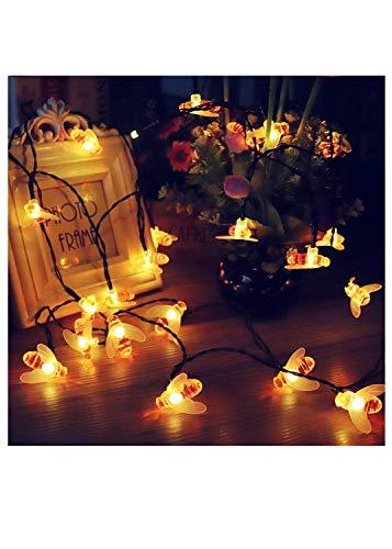 Solar Christmas Lights 30 LED String LightsPlug Lights bee Waterproof String Lights for Indoor Outdoor Party Wedding Christmas Tree Window Patio Decoration