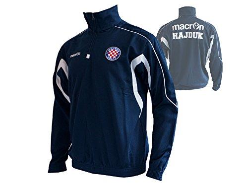 Macron Hajduk Split 1/4 Zip Sweatshirt Fußball Trainingstop dunkelblau Fussball Fanartikel Jersey Kroatien Liga, Größe:S