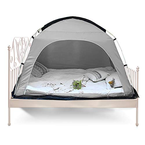 Onnetila Bed Tent Privacy Canopy Bed Tents Sleep Pod Dream Tents for Toddlers Bed Shelter Pop Up Queen Size for Kids and Adult (Gary)