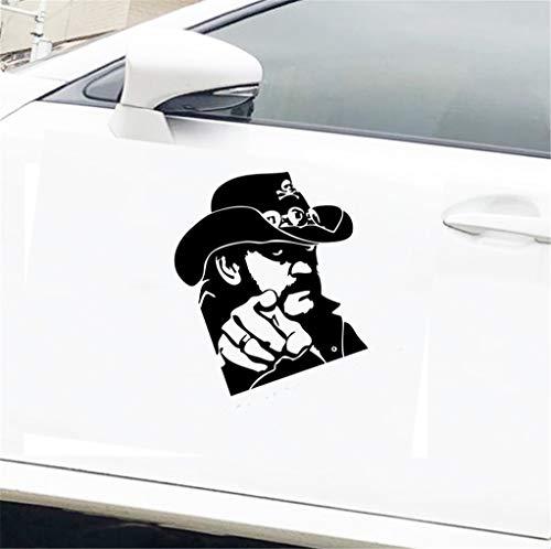 Lustige Auto Aufkleber Fenster Stoßstange LKW Karosserie Aufkleber zeigt Lemmy Gitarre 16,3x13,1 cm für Auto Laptop Fenster Aufkleber
