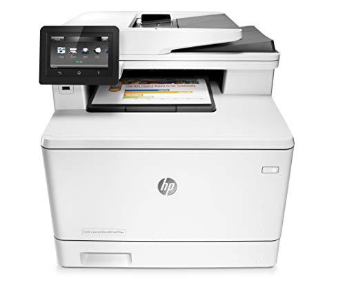 HP Color LaserJet Pro M477fdn Farblaser Multifunktionsdrucker (Drucker, Scanner, Kopierer, Fax, LAN, ePrint, Airpint, Duplex, USB, 600 x 600 dpi) weiß