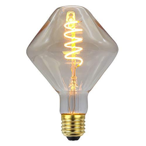 Gyro geformte Wolfram Glühlampe,Dimmbar LED Glühlampe Edison, 4W Retro Glühlampe E27 Glühlampen die weichen Streifen flexiblen Leuchtstoff Lichtquelle für Festival Partei Wand Anhänger Wanddekoration