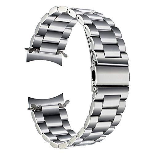WNFYES 22 Mm De Acero Inoxidable Banda Reloj De La Correa De Liberación Rápida For El Engranaje S3 Clásico Frontera Negro Correa De La Muñeca De Plata Pulsera Relojes Correas (Band Color : Silver)