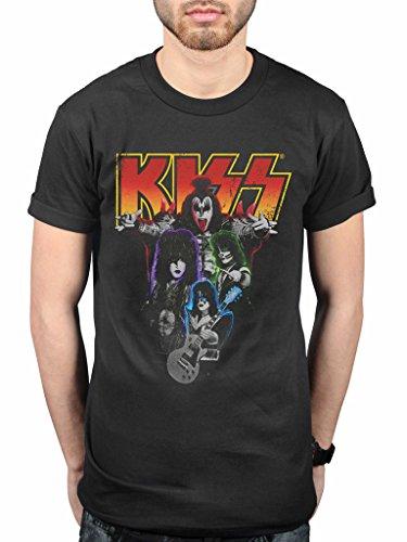 Official Kiss Neon Band T-Shirt Hard Rock Band Paul Stanley Gene Simmons