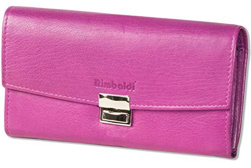 Rimbaldi® - Profi-Kellnerbörse mit extra verstärktem Hartgeldfach aus weichem, naturbelassenem Rinderleder in Lila