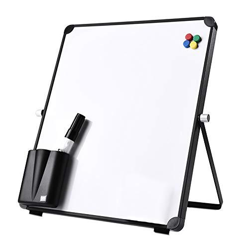 Fransande - Kit de pizarra blanca EffaaAble, pizarra blanca de escritorio magnética con rotulador de pizarra blanca con partículas magnéticas y boote con bolígrafo (30 x 25 cm)