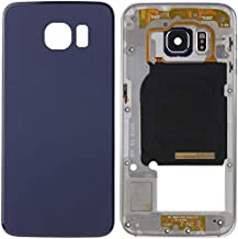 WandaElite Compatible With Samsung Galaxy S6 Edge / G925 Replacement parts Full Housing Cover(Back Plate Housing Camera Lens Panel + Battery Back Cover) Match original Replacement parts