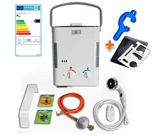 Warmwasser Propan Gas Durchlauferhitzer Boiler Therme Eccotemp/Outdoor Camping L5 (Gastherme) + Anschluss + Zubehör