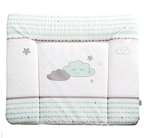 roba Wickelauflage 'Happy Cloud', weiche Wickelunterlage 85x75 cm, Baby Wickeltischauflage PU beschichtet