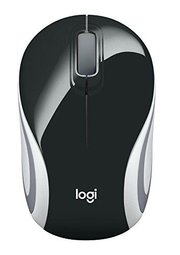 Logitech M187 Ultramobile Kabellose Maus, 2.4 GHz Verbindung via Nano-USB-Empfänger, 1000 DPI Sensor, Kompaktes Design, 3 Tasten, PC/Mac - schwarz