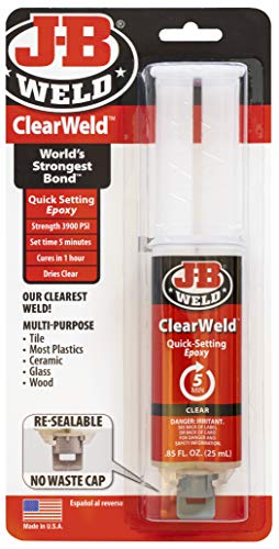J-B Weld 50112 Pegamento Epoxy Rápido, Transparente (Clear), 25 ml