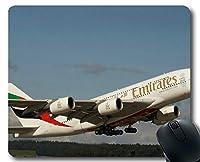 ほつれ防止布ゲーミングマウスパッド、ウィンドウウィンドウシート航空機ビューフライトラベルスカイノンスリップゴムベースマウスパッド