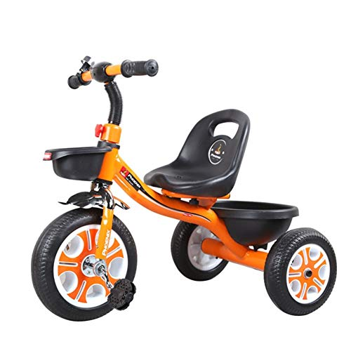 Review Of Kids Trike,4 in 1 Tricycle Pedal Trike with Safety Harness,Non-Slip Pedal, Brakes for Chil...