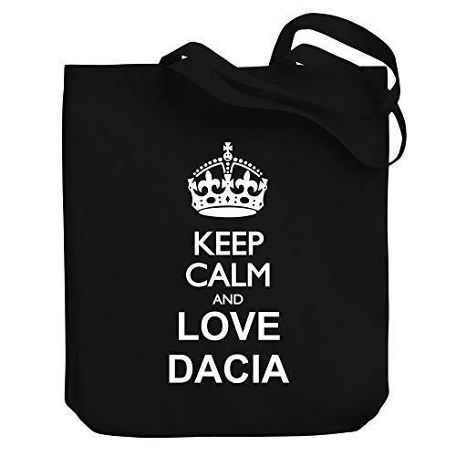 "Teeburon Keep Calm and Love Dacia Bolsa de Lona 10.5"" x 16"" x 4"""
