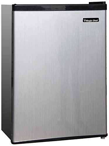 Magic Chef MCBR240S1 Refrigerator, 2.4 cu.ft, Look, Stainless Steel
