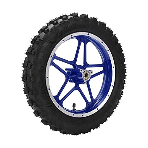 Mini neumático de bicicleta de tierra de 2,5 a 10 pulgadas, neumático trasero de bicicleta de tierra de goma espesa con tubo interior, para mini bicicleta de tierra de 47 cc 49 cc de 2 tiempos(Azul)