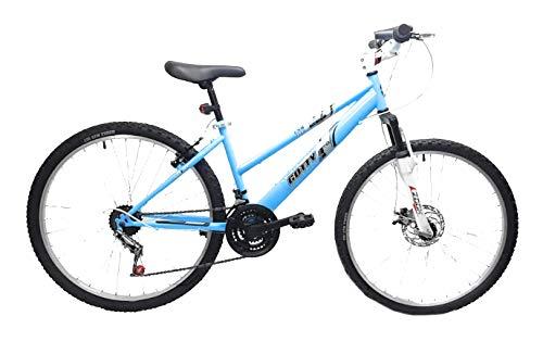 Gotty Bicicleta de montaña Modelo AGUILA-26, Cuadro 26' señora, 18 velocidades, con suspensión Delantera, Frenos de Disco, Equipo de luz Delantera y Trasera.