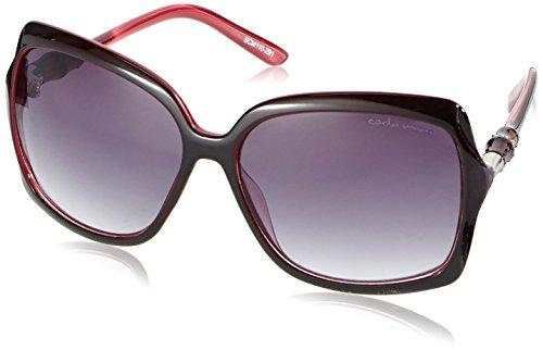 Schöne Marken Sonnenbrille für Damen von Carlo Monti mit 100% UV Schutz   Sonnenbrille mit stabiler Polycarbonatfassung, hochwertigem Brillenetui, Brillenbeutel und 2 Jahren Garantie   SCM110-291