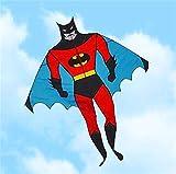 YSTSPYH Cerf-Volant Kite de Haute qualité Super Dessin animé avec poignée Ligne Ripstop Nylon Jouets en Plein air Flying Kites Bobine Bobine Sac Planeur (Color : Batman Kite)