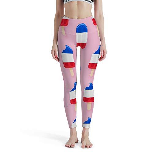 Dofeely Ice Cream Theme Yoga Broeken Elastische Veilige Capri-loopbroek Hardlopen Sportbroek S-XL Delicious