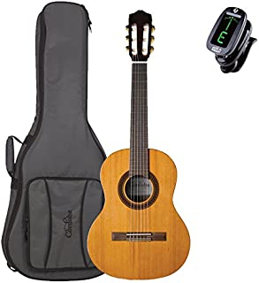 Cordoba Requinto 580 1/2 Size Classical Guitar with Deluxe Gig Bag and Clip-on Tuner