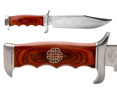 NDZ Performance Elk Ridge Outdoor Hunting Fixed Blade Full Tang Bowie Knife Celtic Shield