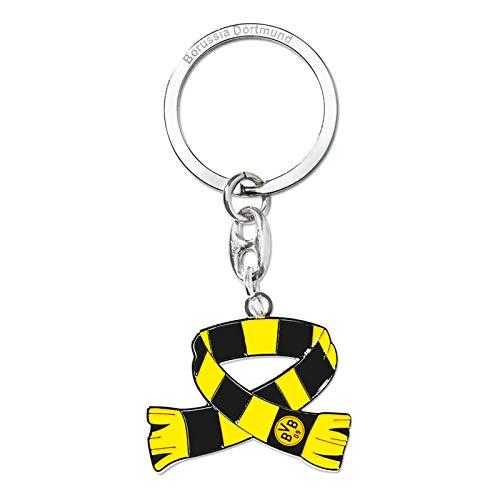 Borussia Dortmund BVB 09 - Llavero con bufanda del Borussia Dortmund, 00 negro y amarillo., talla única
