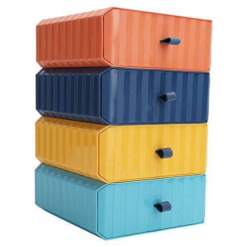 Caja de almacenamiento de escritorio Espacio de almacenamiento adicional Ranuras Caja de almacenamiento de colocación libre Caja de almacenamiento de plástico jerárquica Cajón Organizador