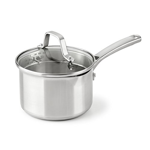 Calphalon Classic Stainless Steel Cookware, Sauce Pan, 1 ½-quart