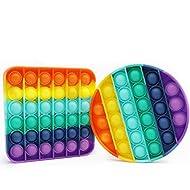 Pop its Fidget Toy Pop It's Bubble Sensory Fidget Toy Autism Special Needs Stress Reliever, Squeeze Sensory Toy, Relieve Stress, Help Restore Emotions 2PCS Rainbow (Raibow)