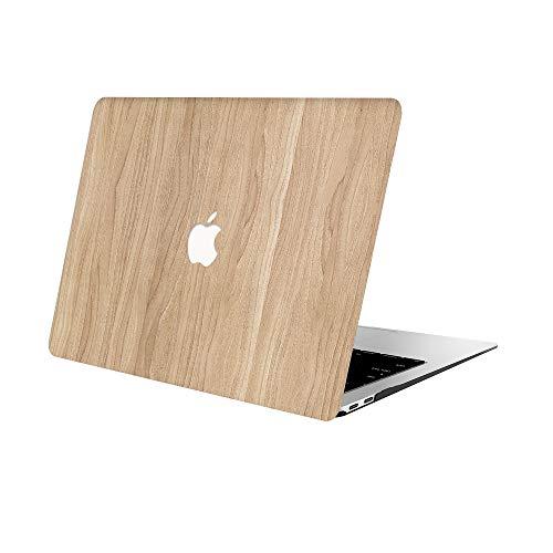 AOGGY Funda MacBook Air 13 Pulgadas 2020 2019 2018 Versión A2179/A1932,Wood Pattern Plastico Cáscara Dura Case para Nuevo MacBook Air 13 Pulgadas con Touch ID - Grano de Madera 2