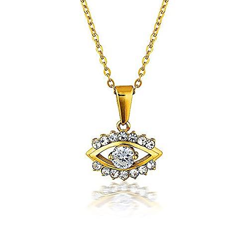 KINGVON 925 Collar simple de ojo francés de plata esterlina, Joyas, Aniversario de Navidad único, Ideas de joyería de boda para mujeres, Plata