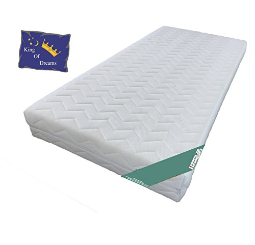 30° Extra Firm Support Mattress–Quilted–Washable Cover–lattex Polished Foam Shape–Height 19cm + 2Mattress Protectors available Relax King, Fabric, 2x90x200