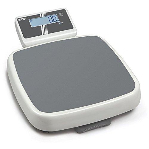 Báscula profesional Step-on [Kern mpd 250 K100 m] con autorización médica, rango de pesaje [Max]: 250 kg, legibilidad [D]: 100 g, fuente de alimentación (externa) estándar