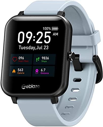 JSL Rastreador de fitness con monitor de ritmo cardíaco Smartwatch mujeres hombres impermeable IP67 GPS Rastreador de actividad contador de pasos Monitor de sueño 1 54 pantalla táctil-gris