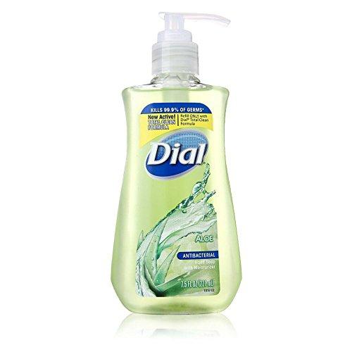 Dial Liquid Antibacterial Liquid Hand Soap, Moisturizing Aloe, Pump, 7.5 oz