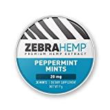 ZEBRA HEMP Mints – USA Made - Pure Natural Edible Candy Hemp Mints for Discomfort & Stress Relief, Sleep and Mood Support – 600 mg…