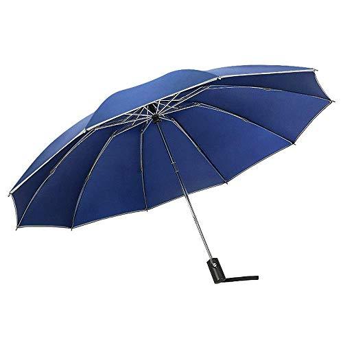 YXDEW Paraguas Plegable Paraguas automático para Mujeres a Prueba de Viento Paraguas Paraguas Compacto Plegable Paraguas inverso con Paraguas de Viaje de Dosel Grande Impermeable