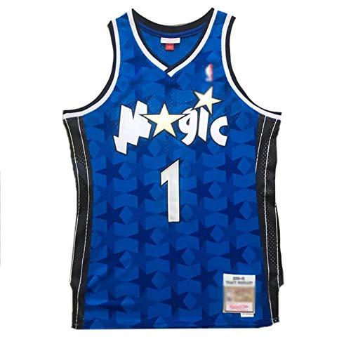 CHSC #1 Tracy McGrady Fan Jersey, Magic Dark Star Version Basketball-Weste, ärmelloses Shirt Unterhemd, Präzisions-Stickerei, Tops für Jungen – Sportgeschenk Gr. M, a