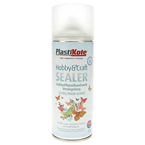 Plastikote 4142 400 ml Hobby Twist Satin Craft Sealer - Clear
