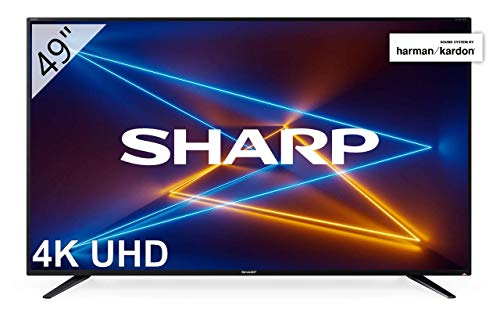 SHARP LC-49UI7252E Televisie 123 cm (49 inch) (4K Ultra HD Smart LED TV, Harman/Kardon geluidssysteem, 3 HDMI-aansluitingen, Triple Tuner)