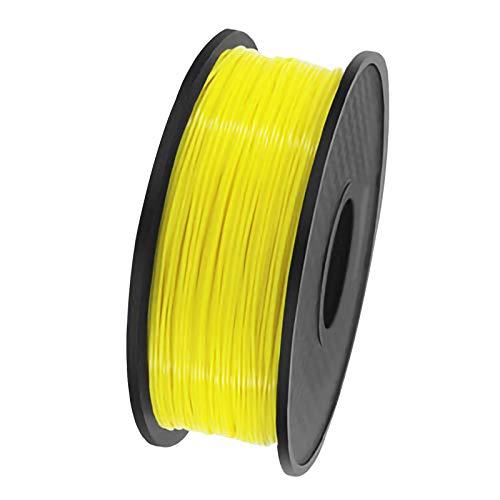 QDTD QualitäTs Pla Filament Feder 3D Filament Refills 1,75 mm Genauigkeit ± 0,02 100% Nein Blase 1 kg 2.2lb Kein Geruch Und Leicht Zu SchäLen Filament for Die Meisten 3D-Drucker(Color:Gelb)