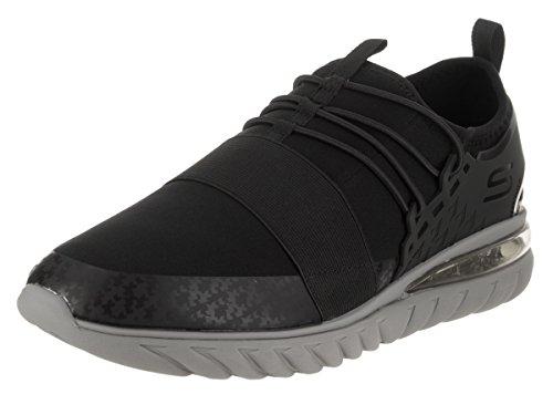 Skechers Men's Sketch Air Conflux Running Shoes (11 D(M) US, Black/Charcoal)
