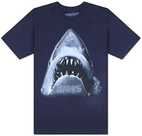 Mens Shark Head Navy T-Shirt Tee - XXL Plus Size