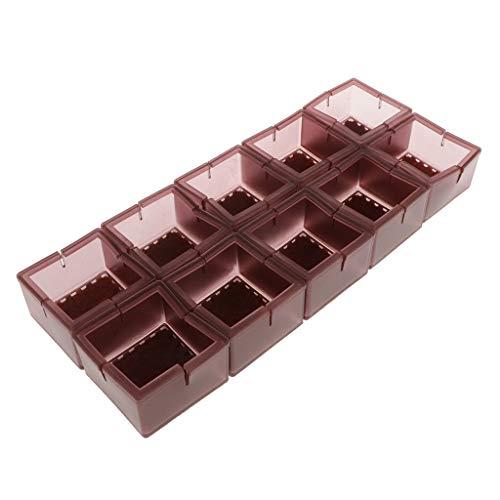 Baoblaze Tapas de Patas de Silla Cuadradas Protector de Piso de Silicona Cubierta de Pies de de Muebles X10